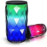 Portable Bluetooth Speakers LED Lights 6 Patterns Visual Wireless Speaker 4.1 HD Bass Powerful Sound Built-in Mic,AUX,Hands Free Home Outdoor Wireless Bluetooth Speaker