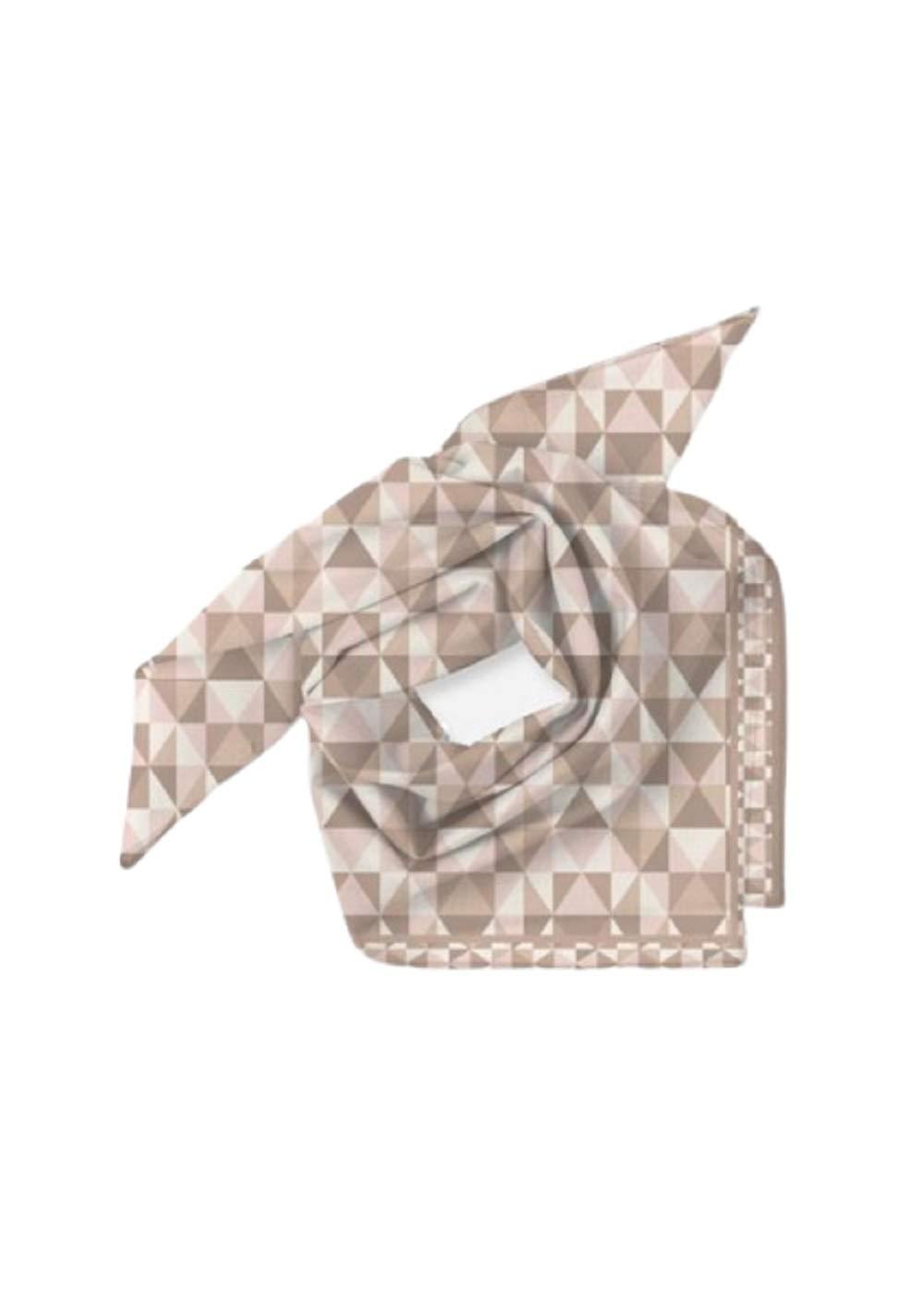 VIDA Modern Diamond Fawn Mini Square Scarf | Original Artwork by Frank Lloyd Wright by VIDA
