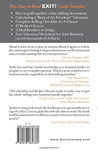 Exit! 12 Steps to Sell Your Business For the Price You Deserve ...