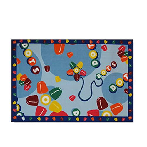 Tootsie Roll Home Decorative Area Rug Nylon Tootsie Roll Dots -19