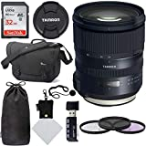 Tamron SP 24-70mm F/2.8 G2 Di VC USD Zoom Lens for Canon Cameras (6 Year Limited USA Warranty) Sandisk Ultra SDHC 32GB Memory Card, Polaroid 82mm Filter Kit, Lowepro Passport Bag and Accessory Bundle