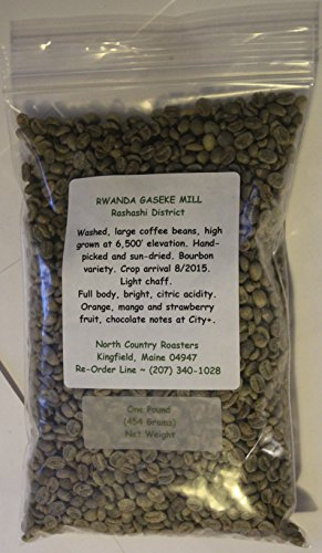 Rwanda Gaseke Mill ~ Green (Raw, Unroasted) Coffee Beans ~ Fresh, New Crop ~ ~ (2 Pounds)
