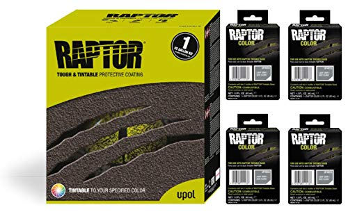 Raptor UP5055 Truck Bed Liner 1US Gallon + 4 Light Gray Colors Bundle