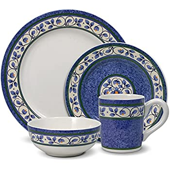 Amazon.com | Pfaltzgraff Summer Breeze 16-Piece Stoneware Dinnerware ...