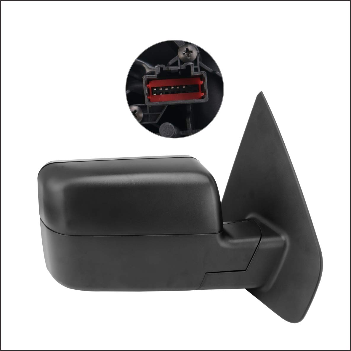 Perfit Zone Towing Mirrors Replacement Fit for 2004-2006 FORD F150 POWER HEATED,W//AMBER SIGNAL,BLACK,RIGHT