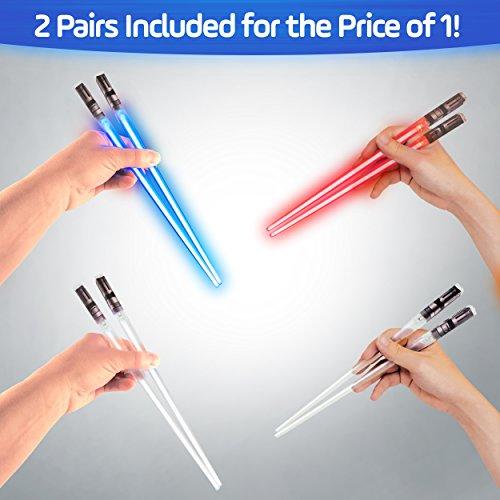 Lightsaber Light Up Chopsticks Led Chopstick, 2-Pairs, Purple & Red by Chopsabers (Image #5)