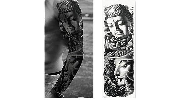 7pcs Pieza del tatuaje etiqueta engomada del tatuaje del brazo ...