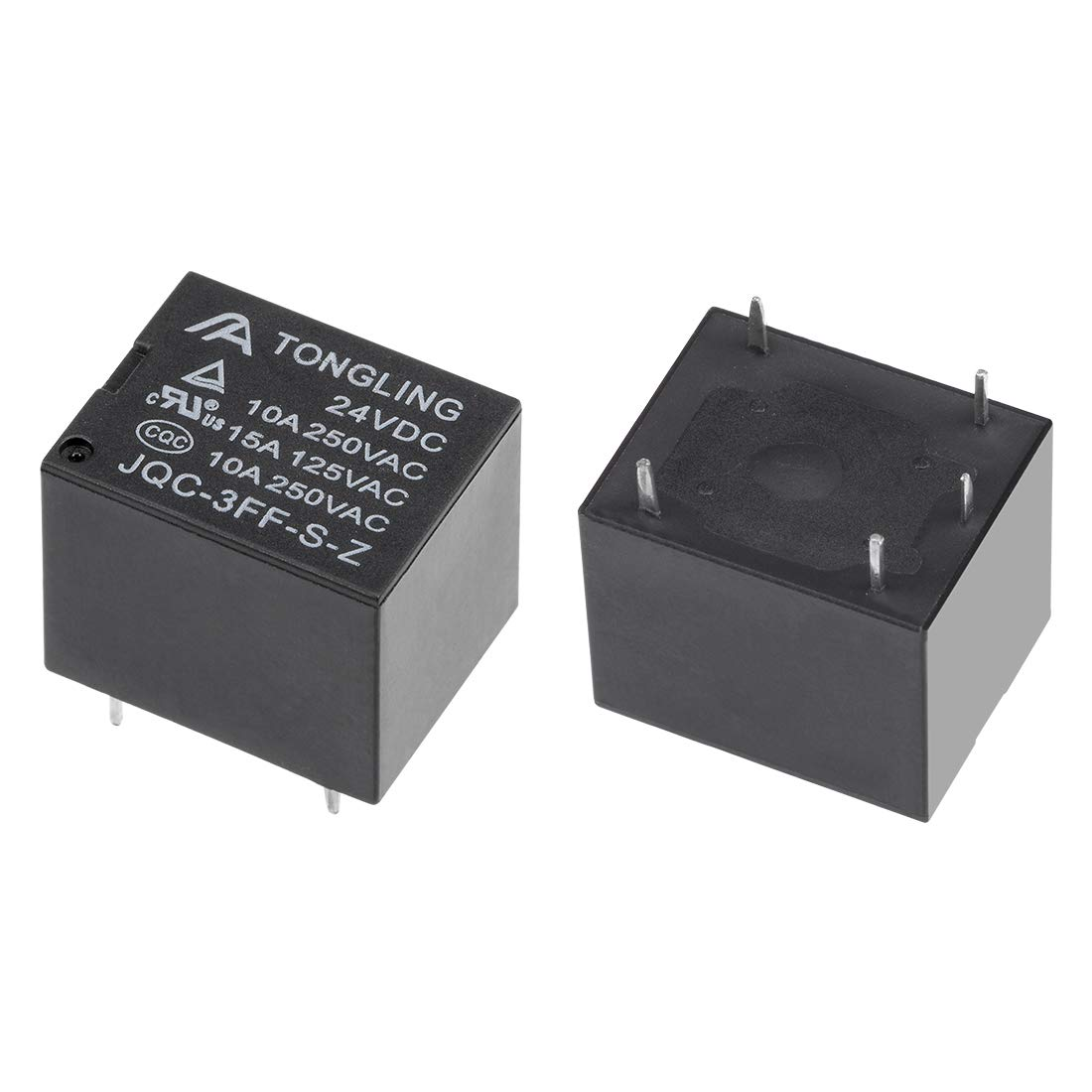 uxcell 10 Pcs JQC-3FF-S-H DC 5V Coil SPST 4 Pin PCB Electromagnetic Power Relay