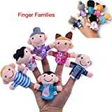 Awkli 16PCS Finger Puppets Set Novelty Educational Toys for Baby Story Time, Shows, Playtime, Schools including 10 Animals + 6 People Family