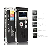 Digital Audio Voice Recorder / Dictaphone / MP3 Player -8GB (Black-1)