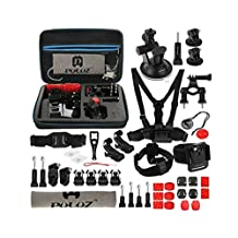 Accessory Bundle Pack for GoPro, Puluz®, 45 in 1 Accessories Set, Carrying Large Waterproof Storage Bag (32cm x 22cm x 7cm) for Hero5, Hero4, Hero3+, Hero3, Hero2, Hero, Session 5 & 4 Session & Other Action Cameras