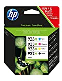 HP 932XL-933XL 4 Pack Set- Black and Col...