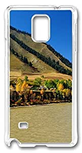 Beautiful Mountains DIY Hard Shell Transparent Best Designed Samsung Galaxy Note 4 Case
