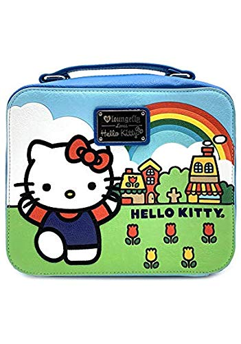 a4671beaa Amazon.com: Loungefly x Sanrio HELLO KITTY SCENERY SHAPED LUNCH BOX  Crossbody Bag, Blue/Multi: Shoes
