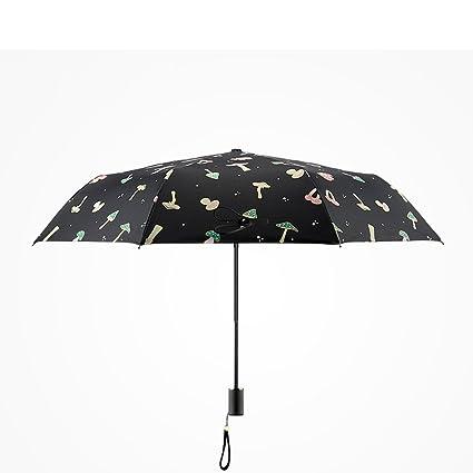 Paraguas – resistente al viento marco reforzado seta hembra plegable sol paraguas violeta Anti-ultraviolet