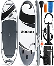 """Inflatable Paddle Board,Googo 11'0""""x32""""x6"""" All-Around Inflatable Stand Up Paddle Board,Anti"""