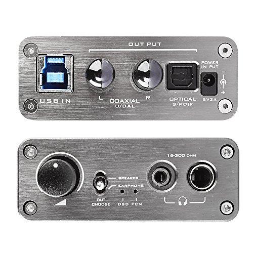 DEAFidelity Elfidelity DSD DAC integrate Audio Headphone Amplifier, Desktop USB Digital Analog Convertor, External PC Soundcard, Support DSD 256 direct decoding by DEAFidelity (Image #2)