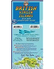 British Virgin Islands Adventure & Dive Guide Franko Maps BVI Waterproof Map