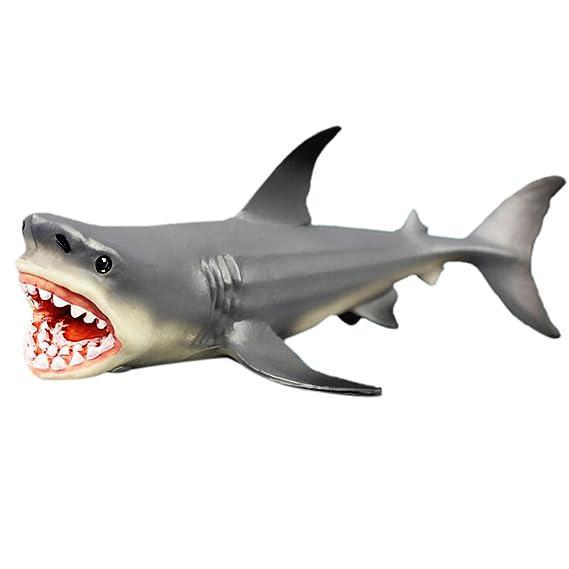 Megalodon Figur Ancient Shark Wild Animal PVC Modell Spielzeug Sammler Geschenk