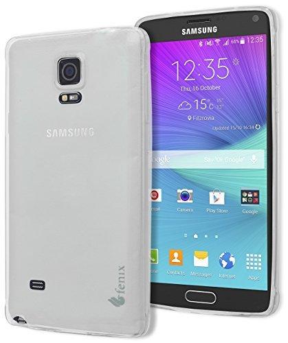 Galaxy Note 4 Case, Fenix Full-Body Protection Heavy Duty Case, Rubberized Gel For Samsung Galaxy Note 4 (Slim Fit) - Tough Clear Case
