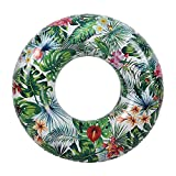 Pannow Forest Swim Ring, Inflatable Rubber Ring Giant Pool Float Water Toys for Adults 115cm/45.2''
