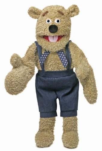 "28"" Silly Bear w/ Mitten Hands, Ventriloquist Style, Animal Puppet"