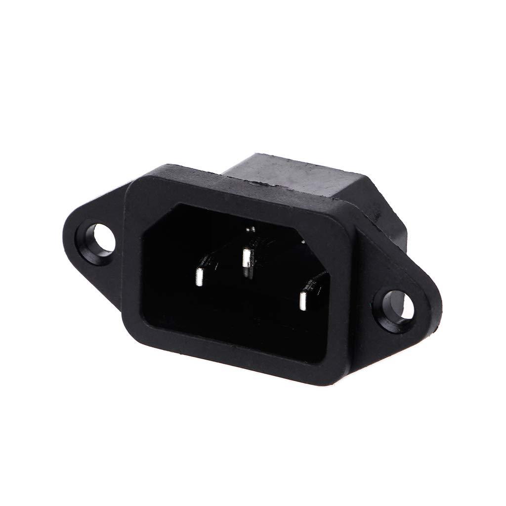 5 conectores de toma de corriente de panel de enchufe macho 3P IEC 320 C14 AC 250 V 10 A