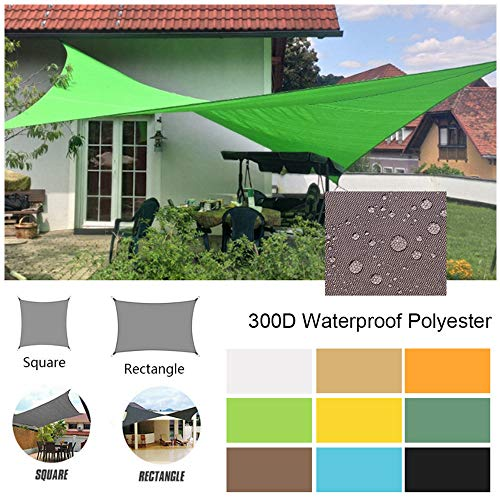 XBKPLO Sand Rectangle Sun Shade Sails Canopy UV Block Cover for Outdoor Patio Garden Backyard