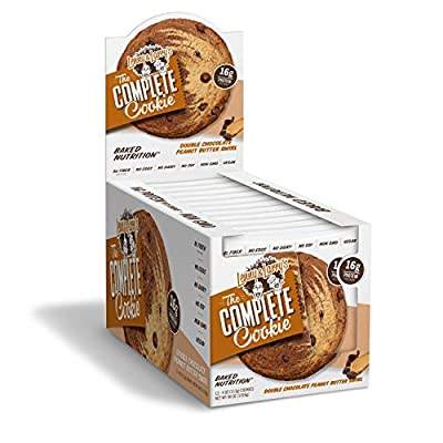 Lenny & Larry's The Complete Cookie tPaLP - Double Chocolate Peanut Butter Swirl - 4 Ounce (Pack of 12)