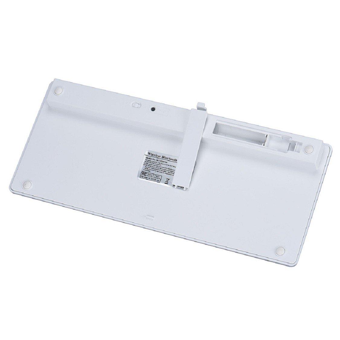 Egmy Hot! 2016 Slim Mini Bluetooth Wireless Keyboard for iPad Pro 9.7 /12.9 inch White by Egmy (Image #4)
