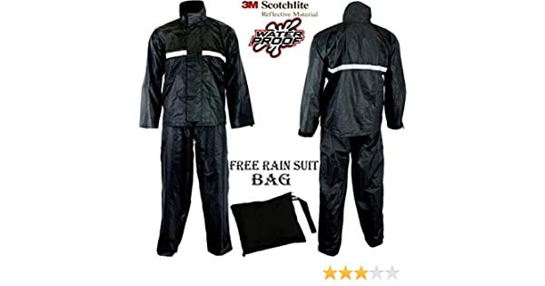 MBSmoto MR32 color negro Pantal/ón impermeable para motocicleta
