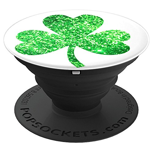 (Irish Lucky Shamrock Green Ireland Fun - PopSockets Grip and Stand for Phones and Tablets)