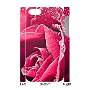 ALICASE Diy 3D Protection Hard Case Rose Case For Iphone 5/5S Cover [Pattern-1]