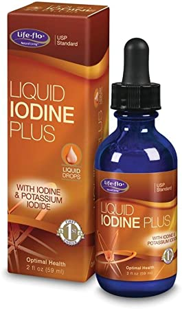 Life-flo Iodine Plus Drops   150 mcg Iodine Per Serving   Healthy Thyroid, Energy & Metabolism Support   Formulated for High Absorption   2 fl oz