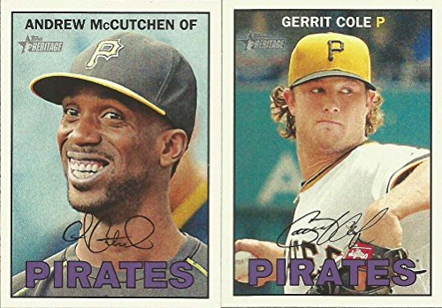 Pittsburgh Pirates 2016 Topps Heritage Series Basic 14 Card Team Set with Andrew McCutchen Gerrit Cole Plus