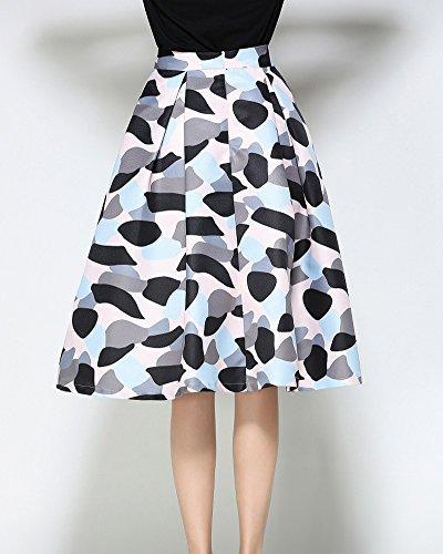 Jupe Imprime Rtro Floral Picture Jupe Vintage A 2 As Plisse Line Femme Style xZ8EwtE