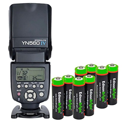 YONGNUO YN560 IV YN-560IV Wireless Flash Speedlite Master / Slave Flash with (Olympus Nimh Battery)
