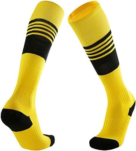 Calcetines Deportivos Antideslizantes Hombre Y Mujer, Medias Algodon Gruesos, Transpirable Desodorante Calcetines Deporte Para Futbol Running Snowboard Ciclismo Trekking Baloncesto(2 Pares),Yellow: Amazon.es: Deportes y aire libre