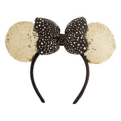Disneyland Paris Minnie Mouse Gold Sequined Headband Ears