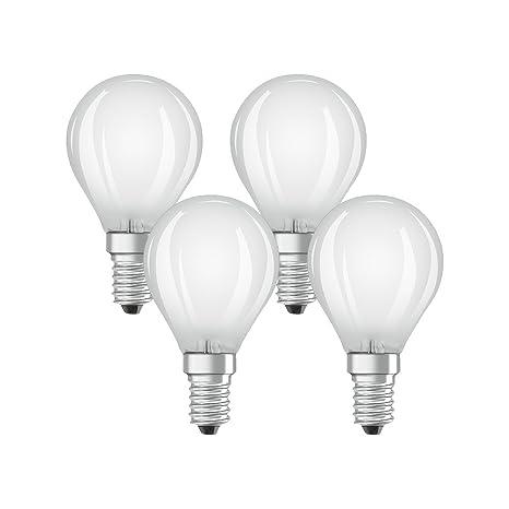 Osram 042988 Bombilla LED E14, 4 W, Blanco 4 Unidades
