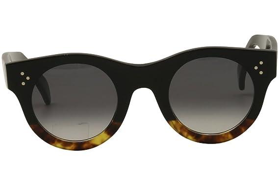 c5f9b87b10a Celine 41425 S FU5 Black Havana 41425 S Round Sunglasses Lens Category 3  Size 4 at Amazon Women s Clothing store