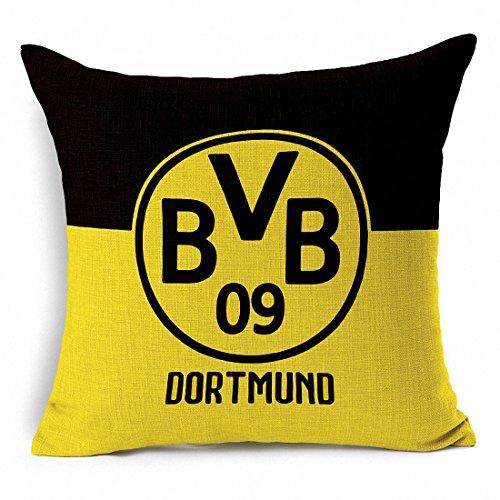 E-sunshine® Thick Cotton Blend Linen Square Throw Pillow Cover Decorative Cushion Case Pillow Case 18 X 18 Inches / 45 X 45 cm, New Football Club Badge (Dortmund)