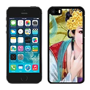 Beautiful And Unique Designed With Girl Smile Hand Hairdress Flowers For iPhone 5C Phone Case