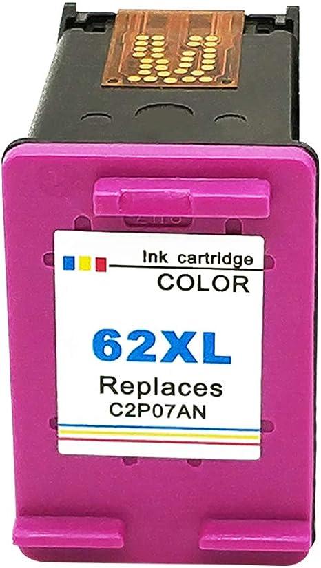 Ksera Remanufacturados HP 62XL HP 62 XL Alta Capacidad Cartuchos de Tinta Paquete de 1 (1 Tricolor) C2P07AN Compatible con HP Envy 5640 5540 5546 5544 5644 5646 7640, HP OfficeJet 5742 200 5744: Amazon.es: Electrónica
