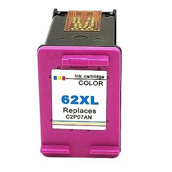 Kyansin Remanufacturado Cartucho de Tinta Reemplazo para HP 62 XL HP62 XL (1 Tricolor) Tintas de Alto Rendimiento (C2P07AN) Compatible con HP Envy ...