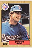 Bobby Witt Rangers Athletics Devil Rays Autographed 1987 Topps #415 Card 17C