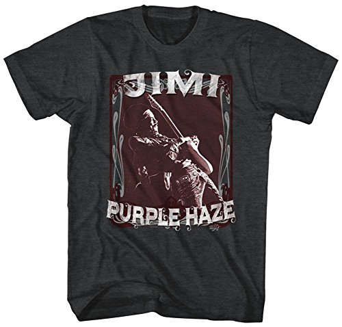 Jimi Hendrix- Purple Haze Stamp T-Shirt - Schwarz