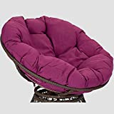 LYHVV Solid Color Papasan Seat Cushion, Round