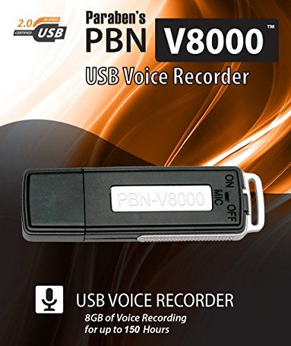 PBN-V8000 8 GB USB Voice Recorder