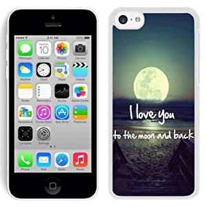 Beautiful and DIY Iphone 5c Case Design with Moon And Back White Case for Iphone 5c Generation